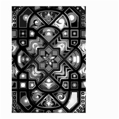 Geometric Line Art Background In Black And White Small Garden Flag (two Sides) by Simbadda