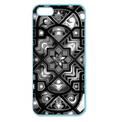 Geometric Line Art Background In Black And White Apple Seamless Iphone 5 Case (color) by Simbadda