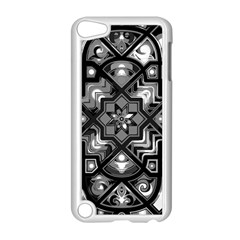 Geometric Line Art Background In Black And White Apple Ipod Touch 5 Case (white) by Simbadda