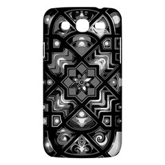 Geometric Line Art Background In Black And White Samsung Galaxy Mega 5 8 I9152 Hardshell Case  by Simbadda