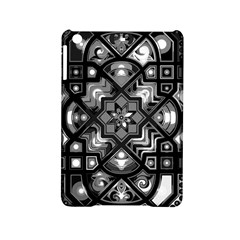 Geometric Line Art Background In Black And White Ipad Mini 2 Hardshell Cases by Simbadda