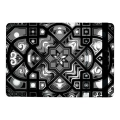 Geometric Line Art Background In Black And White Samsung Galaxy Tab Pro 10 1  Flip Case by Simbadda