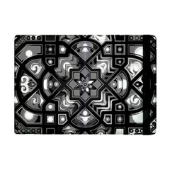 Geometric Line Art Background In Black And White Ipad Mini 2 Flip Cases by Simbadda