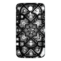 Geometric Line Art Background In Black And White Samsung Galaxy Mega I9200 Hardshell Back Case by Simbadda