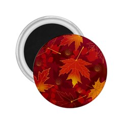 Autumn Leaves Fall Maple 2 25  Magnets by Simbadda