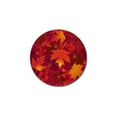 Autumn Leaves Fall Maple Golf Ball Marker by Simbadda