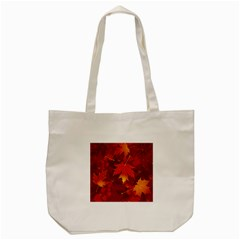 Autumn Leaves Fall Maple Tote Bag (cream) by Simbadda