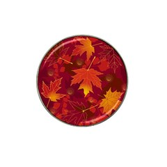 Autumn Leaves Fall Maple Hat Clip Ball Marker (4 Pack) by Simbadda
