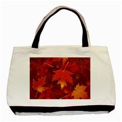 Autumn Leaves Fall Maple Basic Tote Bag by Simbadda