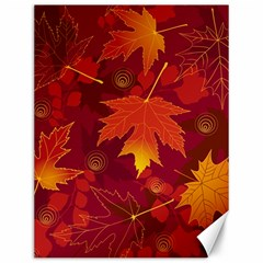 Autumn Leaves Fall Maple Canvas 12  X 16   by Simbadda