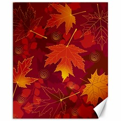 Autumn Leaves Fall Maple Canvas 16  X 20   by Simbadda