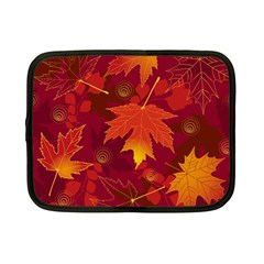 Autumn Leaves Fall Maple Netbook Case (small)  by Simbadda
