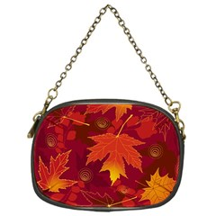 Autumn Leaves Fall Maple Chain Purses (one Side)  by Simbadda