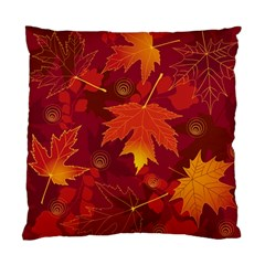 Autumn Leaves Fall Maple Standard Cushion Case (two Sides) by Simbadda