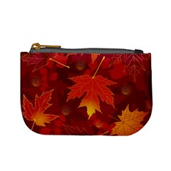 Autumn Leaves Fall Maple Mini Coin Purses by Simbadda