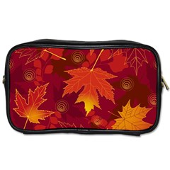 Autumn Leaves Fall Maple Toiletries Bags by Simbadda