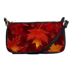 Autumn Leaves Fall Maple Shoulder Clutch Bags by Simbadda