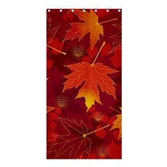 Autumn Leaves Fall Maple Shower Curtain 36  X 72  (stall)  by Simbadda