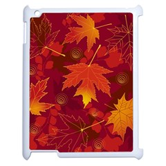Autumn Leaves Fall Maple Apple Ipad 2 Case (white) by Simbadda