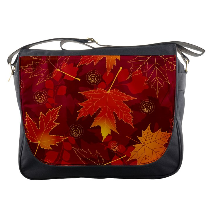 Autumn Leaves Fall Maple Messenger Bags