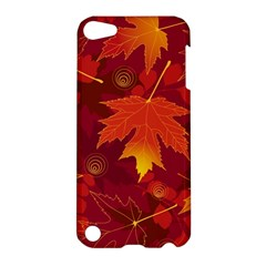 Autumn Leaves Fall Maple Apple Ipod Touch 5 Hardshell Case by Simbadda