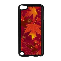 Autumn Leaves Fall Maple Apple Ipod Touch 5 Case (black) by Simbadda
