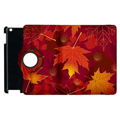 Autumn Leaves Fall Maple Apple Ipad 3/4 Flip 360 Case by Simbadda