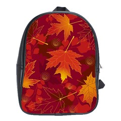 Autumn Leaves Fall Maple School Bags (xl)