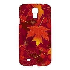 Autumn Leaves Fall Maple Samsung Galaxy S4 I9500/i9505 Hardshell Case by Simbadda