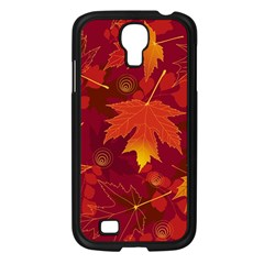 Autumn Leaves Fall Maple Samsung Galaxy S4 I9500/ I9505 Case (black) by Simbadda