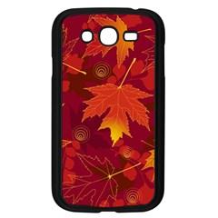 Autumn Leaves Fall Maple Samsung Galaxy Grand Duos I9082 Case (black) by Simbadda