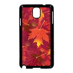 Autumn Leaves Fall Maple Samsung Galaxy Note 3 Neo Hardshell Case (black) by Simbadda
