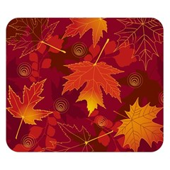Autumn Leaves Fall Maple Double Sided Flano Blanket (small)  by Simbadda