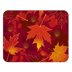 Autumn Leaves Fall Maple Double Sided Flano Blanket (large)  by Simbadda