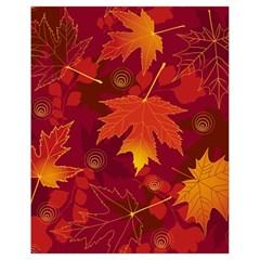 Autumn Leaves Fall Maple Drawstring Bag (small) by Simbadda