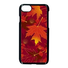 Autumn Leaves Fall Maple Apple Iphone 7 Seamless Case (black) by Simbadda