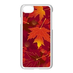 Autumn Leaves Fall Maple Apple Iphone 7 Seamless Case (white) by Simbadda