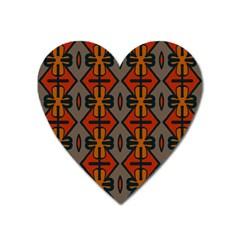 Seamless Pattern Digitally Created Tilable Abstract Heart Magnet by Simbadda