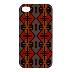 Seamless Pattern Digitally Created Tilable Abstract Apple Iphone 4/4s Hardshell Case by Simbadda