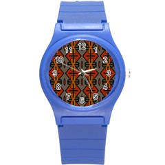 Seamless Pattern Digitally Created Tilable Abstract Round Plastic Sport Watch (s) by Simbadda