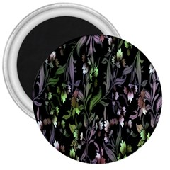 Floral Pattern Background 3  Magnets by Simbadda