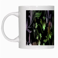 Floral Pattern Background White Mugs by Simbadda