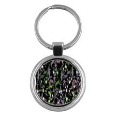 Floral Pattern Background Key Chains (round)  by Simbadda