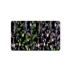 Floral Pattern Background Magnet (name Card) by Simbadda