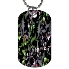 Floral Pattern Background Dog Tag (two Sides) by Simbadda