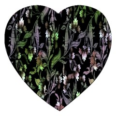 Floral Pattern Background Jigsaw Puzzle (heart) by Simbadda