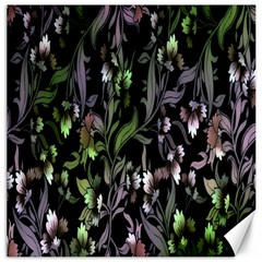 Floral Pattern Background Canvas 16  X 16   by Simbadda