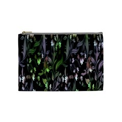 Floral Pattern Background Cosmetic Bag (medium)  by Simbadda
