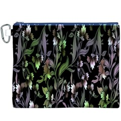Floral Pattern Background Canvas Cosmetic Bag (xxxl) by Simbadda