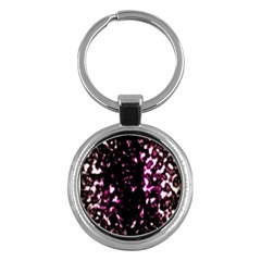 Background Structure Magenta Brown Key Chains (round)  by Simbadda